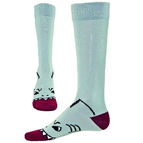 Red Lion Fin Shark Mouth Knee High Socks ( Gray - Medium / Large ) (Shark Soccer Socks compare prices)