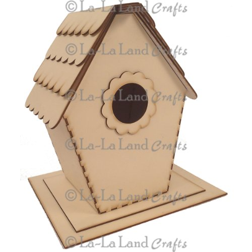 La-La Land Crafts Frames and Shapes Kit, 7.5 by 6.75-Inch, Birdhouse with Base