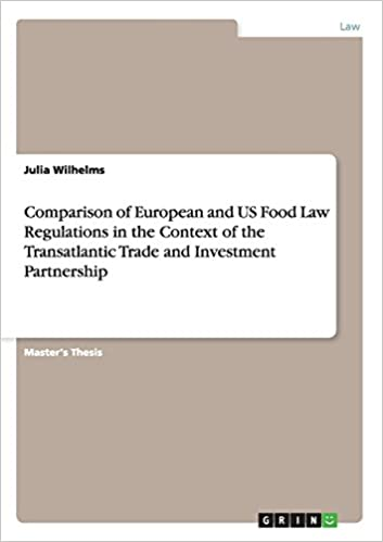 comparison of european and us food law regulations in the context of