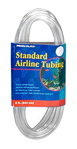 - Penn Plax Airline Tubing for Aquariums -Clear and Flexible Resists Kinking, 8 Feet Standard