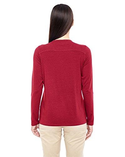 Devon & Jones–ajuste perfecto y-placket Convertible funda Knit Top (dp186W) Rosso