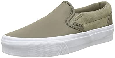 Vans Unisex Adults' Classic Slip on Trainers Brown Size: 6.5