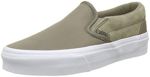 Zapatillas Cordones Sin on Unisex Verde Nylon Classic Vans surplus Adulto Slip wqFaag