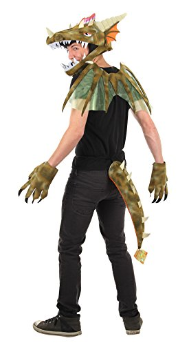 Costume For Green Adults Dragon (Dragon Wings by elope)