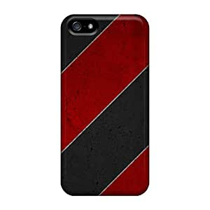 Iphone High Quality Cases/ Red And Black KPF12311mziw Cases Covers For Iphone 5/5s