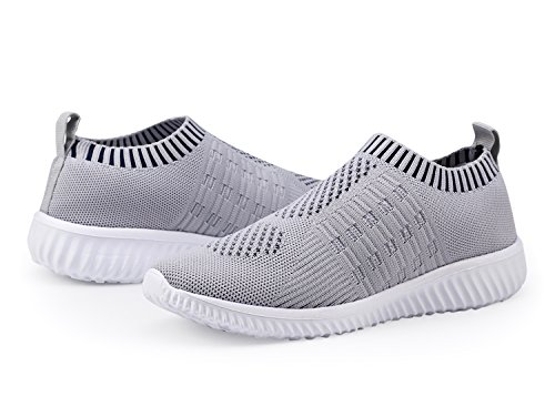 DMGYDAF Women's Lightweight Walking Athletic Shoes Breathable Mesh Sneakers Casual Running Shoes Gray 39 by DMGYDAF (Image #6)