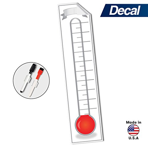 Goal Chart Thermometer (Goal Setting Fundraising Thermometer Chart - 48