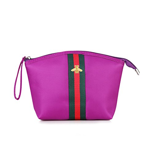 up Handle Hand Bag Shoulder Luckywe Waterproof Satchel Nylon Make Handbags Purse Bag Women Top Tote Purple EwxwfqXR0a