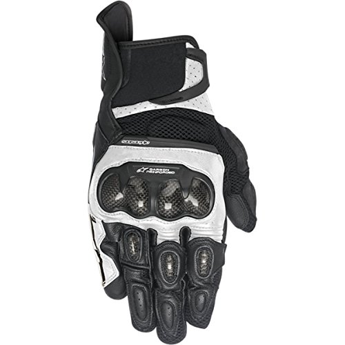 Alpinestars SP-X Air Carbon Women's Street Motorcycle Gloves - Black/White / Large
