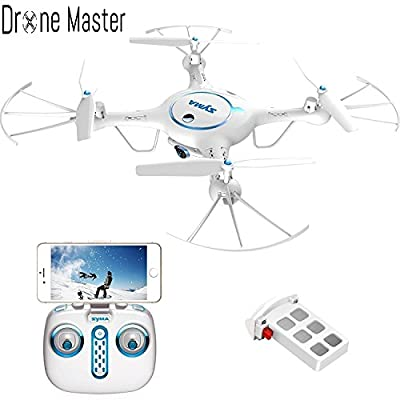 Drone Master X5UW Wifi FPV Drone with 720P HD Camera Live Video, Barometer Set Height, H/L Speed,RTF RC Quadcopter White