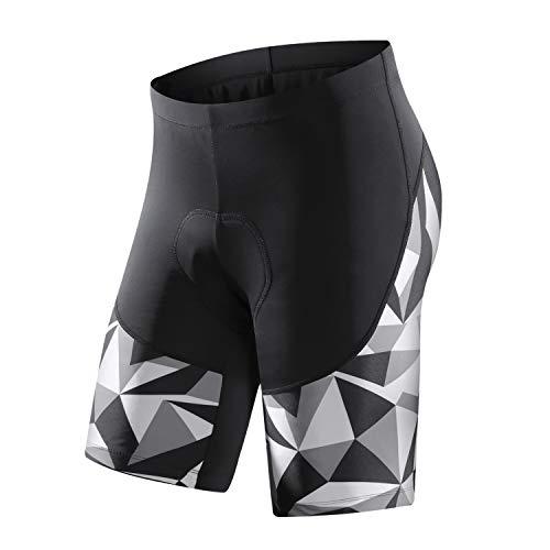 Santic Cycling Shorts Mens 3D Padded Bike Shorts for Mens Bike Bicycle Shorts Pants High Breathable Grey L