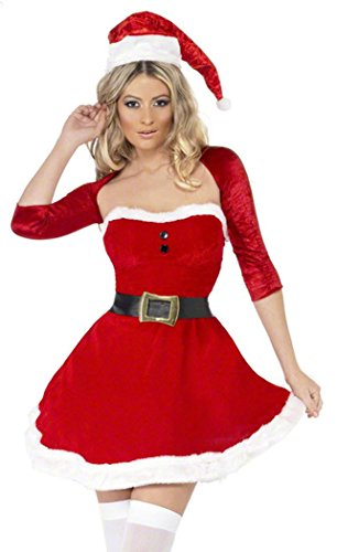 Homemade Belle Halloween Costumes (Black Friday PEGGYNCO Christmas Womens Red Santa Belle Costume)