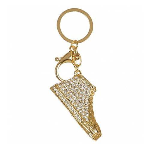 Rhinestone StuddeCrownd Keychains Car Keychains Key Rings Bag Charm (Various Choices) (Shoes-Gold) from Crown