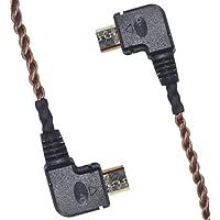 KK M-M1-4 HIFI,Cable,Right Angle to Right Angle OTG Micro USB Cable For Sony PHA-1,PHA-2,PHA-3,DP-X1,CHORD Electronics Mojo,MicroUSB-to-MicroUSB OTG,6N OCC KK M-M1-4