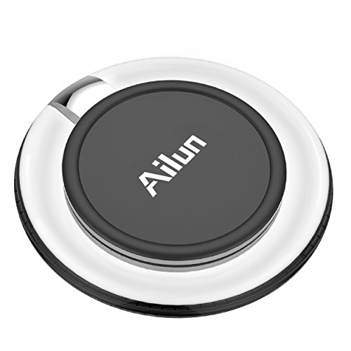 Wireless charger,by Ailun,Ultra-Slim&Protable,Slip-Proof Pad,Universal for All Qi-Enabled Devices,Galaxy S7/S7 Edge,S6/S6 Edge/S6 Active,Note 5,Nexus 7/6/5/4[Crystal Clear] by AILUN