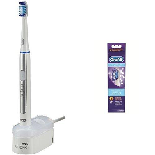 Oral-B Pulsonic Slim elektrische Schallzahnbürste (1 Handstück) inkl. Pulsonic Aufsteckbürsten, 3er-Pack