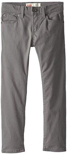 Levi's Boys' Big 511 Slim Fit Soft Brushed Pants, Dark Gull Grey, 16
