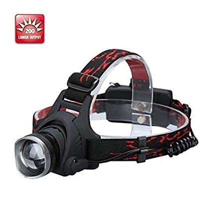 Durapower Headlamp Super Bright 2 Modes Led Headlamp With Zoomable