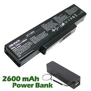 Battpit Bateria de repuesto para portátiles Clevo W763K (4400 mah) con 2600mAh Banco de energía / batería externa (negro) para Smartphone