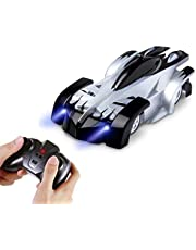 AMERTEER Remote Control Car,Electric Toy RC Cars on the Wall, Dual Mode 360°Rotating Stunt Rechargeable High Speed Race Vehicle with LED Lights, Xmas RC Cars for Boys Girls 3-16 Year Old