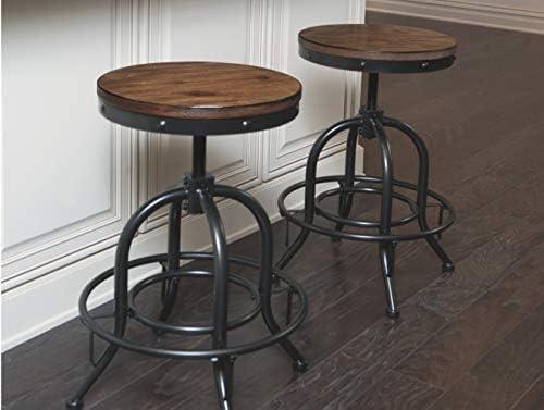 Super Ashley Furniture Signature Design Pinnadel Swivel Bar Stool Counter Height Set Of 2 Light Brown Ibusinesslaw Wood Chair Design Ideas Ibusinesslaworg