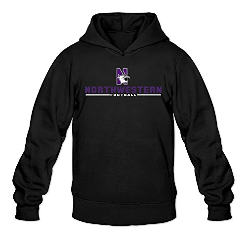 Men's NU Northwestern Wildcats Sport Wordmark Hoodie Sweatshirt Black