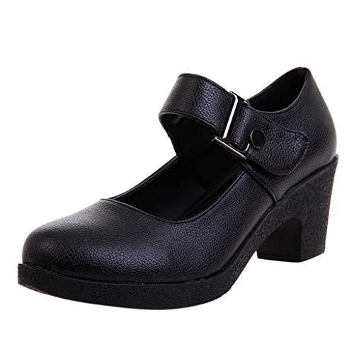 Women Rumba Waltz Prom Ballroom Dance Leather Shoes Latin Salsa Performance Wedding Dance Sandals 2.4'' Spike Heels (Sandals Guess Patent Leather)