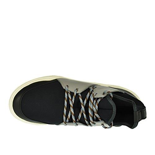 Lanvin Sneaker Pelle E 39 Neoprene in Nera 11xrdZv