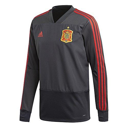 adidas Fef Tr Top Camiseta, Hombre Gris/Rojo (grpudg/grinoc)