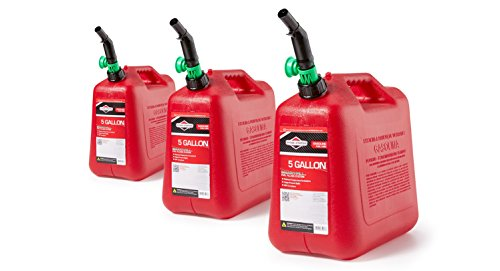 Briggs & Stratton 98053 5-Gallon Gas Can AutoShut Off (3 Pack) by Briggs & Stratton