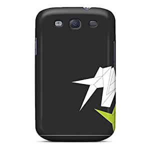 Unique Design Galaxy S3 Durable Tpu Case Cover Lime Green Cranes