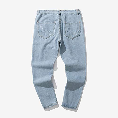Motorcycle Denim Vintage Moderno Vaqueros Pantalones Slim para Hombre Pantalón Pantalones Deportivo Laborales Azul5 Jeans Fit Largos Casuales Hiphop 7gqPWwIF