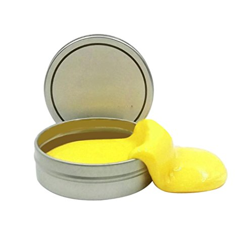 Price comparison product image Mchoice Luminous Rubber Mud Slime Scented Tub Stress Relief No Borax (Yellow)