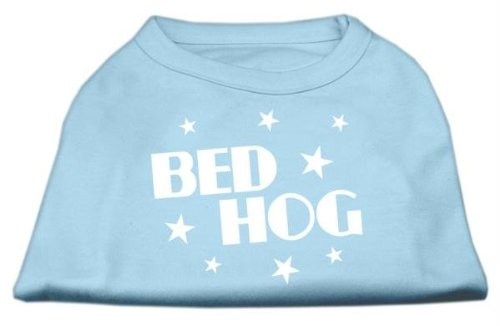Dog Hog Pet Bed - Mirage Pet Products 8-Inch Bed Hog Screen Printed Shirt, X-Small, Baby Blue