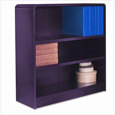 Aleraamp;reg; - Radius Corner Bookcase, Wood Veneer, 3-Shelf, 35-3/8w x 11-3/4d x 36h, Mahogany - Sold As 1 Each - Rich wood veneer bookcases with fully-finished -