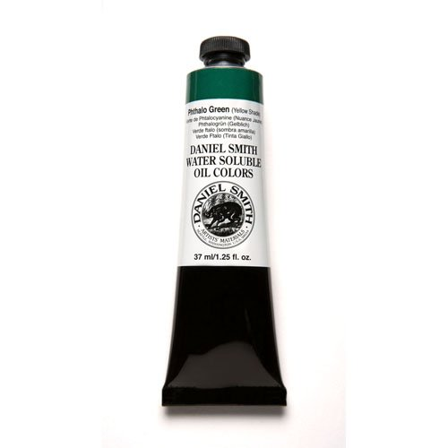 (DANIEL SMITH 284390038 Water Soluble Oils Paint Tube, 37 ml, Phthalo Green/Yellow Shade)