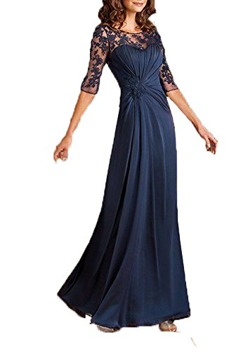 of Chiffon Mother The Short Sleeves Blevla Lace Navy Bride Dresses wOIXRIq