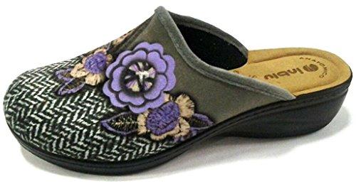Inblu pantofole ciabatte invernali da donna art. LY-31 grigio