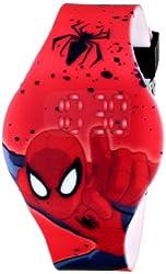 Marvel Ultimate Spider-Man  Kids' SPD3431 Digital Display Analog Quartz Red Watch