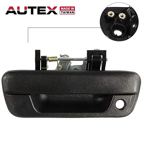 AUTEX Tailgate Handle Outer Exterior Rear Liftgate Rear Hatch Door Handle Compatible with Chevy Colorado,GMC Canyon 2004-2012 Replacement for Isuzu i-280 i-290 i-370 2006 2007 2008 - Handle Rear Tailgate Hatch