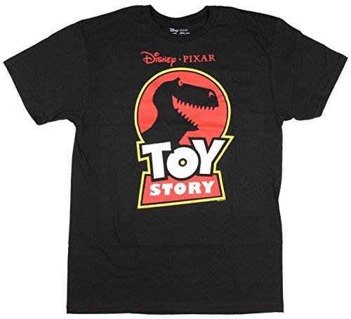 Disney Pixar Toy Story Jurassic Rex T-shirt (Large, Adult Black)