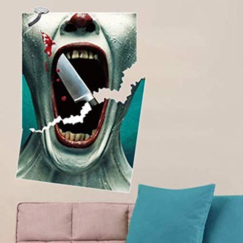 Horror Bloody Wall Sticker Halloween Bar Haunted House Decoration Scary PVC Sticker 50cm70cm Vinyl Wall Sticker PVC ()