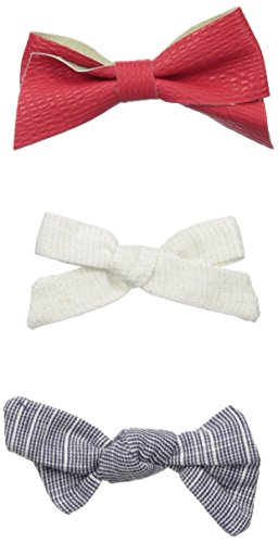 Girls Hair Bows (3 pack) - Alligator Clip Hair Accessories - by Clara Josie