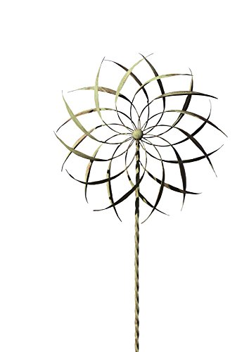 Ancient Graffiti Copper/Verdigris Pinwheel Staked Spinner, 22 by 75-Inch
