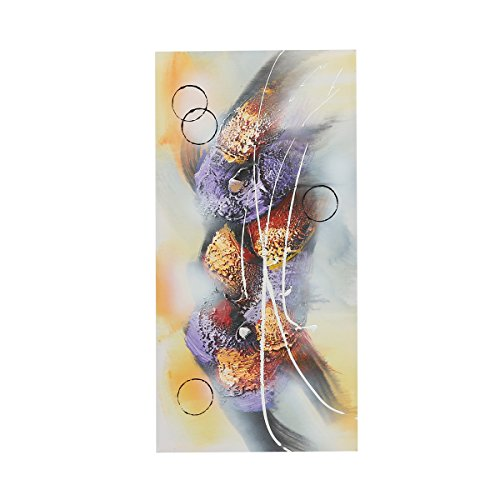 Abstract Canvas Oil Painting, Modern Art 12x24 Inches Wooden Framed(Type - Oil Chinese Art Painting