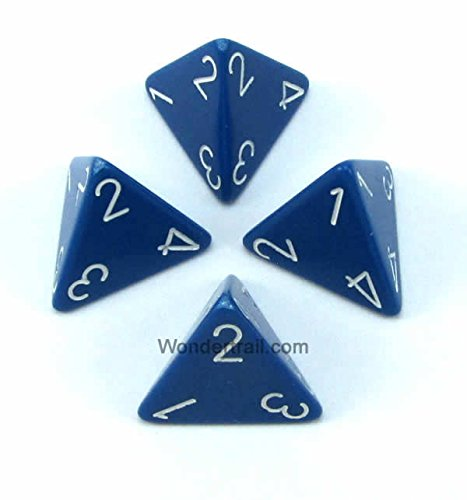 【最新入荷】 wcxpq0406e4ブルー不透明Dice withホワイト番号d4 Aprox 4 16 mm ( Chessex 5/ 8in 8in )パックof 4 Dice Chessex B00VWXF3NS, 中村屋:6c7cd45b --- egreensolutions.ca