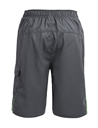 Nonwe Herren-Board-Shorts Sommer-Sea-Urlaub Swim Trunks Beach Board Shorts Grau 38