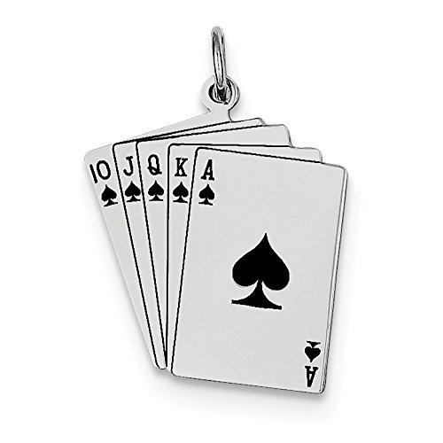 Sterling Silver Playing Card - Sterling Silver Playing Cards Charm