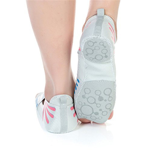 Ballet Gris Zapatillas Puntera JOINFREE Yoga con para Pilates Bellarina Antideslizante Media Barre 0CwxqP4fg