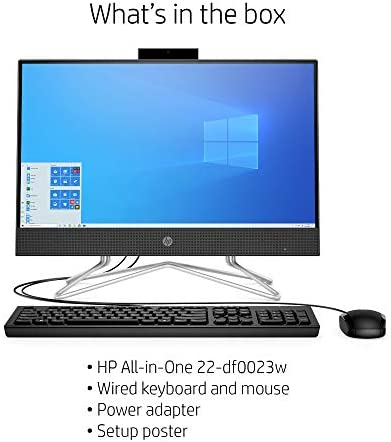 HP 22-DF AMD Ryzen 3 3250U 8GB 1TB HDD 21.5-Inch Full HD Touch Screen All-in-One PC